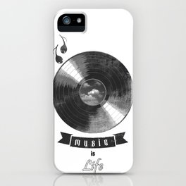 music is ...life  (vintage version) iPhone Case