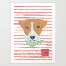 Jack Russell Terrier, Modern Art Print