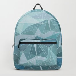 Winter geometric style - minimalist Backpack