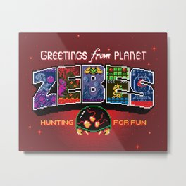 Greetings from Planet Zebes Metal Print