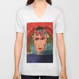 Cyber girl hoodie  Unisex V-Neck