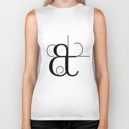 Curves Ampersand Art Typography Biker Tank
