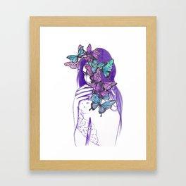 Amongst Butterflies Framed Art Print