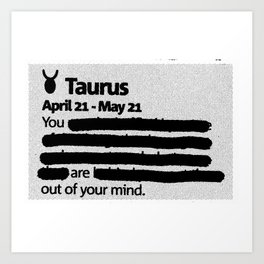 Taurus 1 Art Print