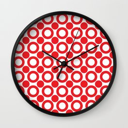 Dot 2 Red Wall Clock