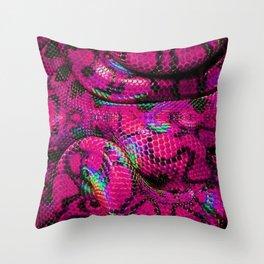Pink Barbie Snake Throw Pillow