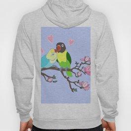 Kissing Lovebirds in magnolia tree Hoody