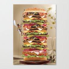 Hamburger Tower Canvas Print
