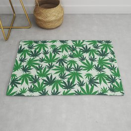 420 Cannabis mary jane Weed Pattern Gift Rug