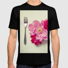 You Are What You Eat - White Mens Fitted Tee Black MEDIUM