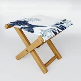 The Great Wave - Halftone Folding Stool