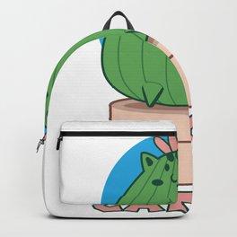 Catcus I Funny Feline Big Fat Cactus design I Cat Pun motif Backpack