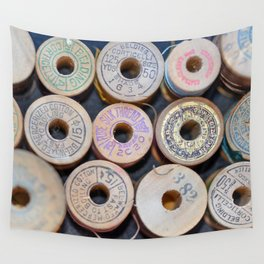 Wooden Spools Wall Tapestry