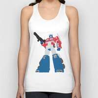 transformers Tank Tops featuring Transformers G1 - Optimus Prime by TracingHorses