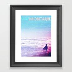 Surf DITCH Poster Framed Art Print