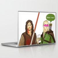 legolas Laptop & iPad Skins featuring What I miss? by tokidokiloki