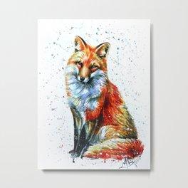 FOX 2 watercolor Metal Print