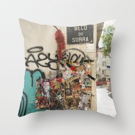 Lisbon Street Throw Pillow