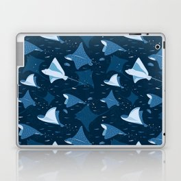 Blue stingrays pattern Laptop & iPad Skin