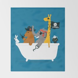 Everybody wants to be the pirate Throw Blanket