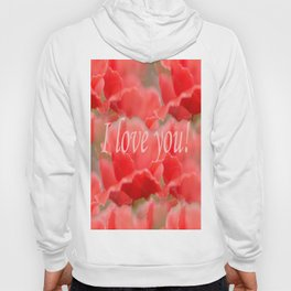 Love You! Red Poppies #decor #society6 Hoody