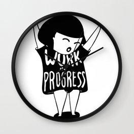 Work in Progress Wall Clock