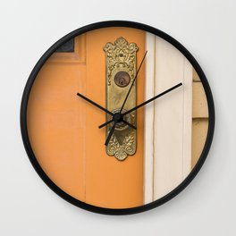 French Quarter Color, No.2 Wall Clock