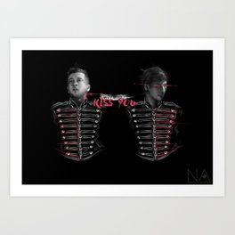"""kiss you"" print Art Print"