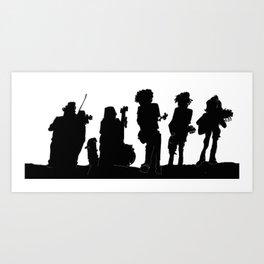 D-Rangers Silhouette Art Print