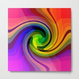 Color wheel storm Metal Print