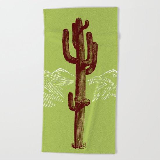 cactus y nieve Beach Towel