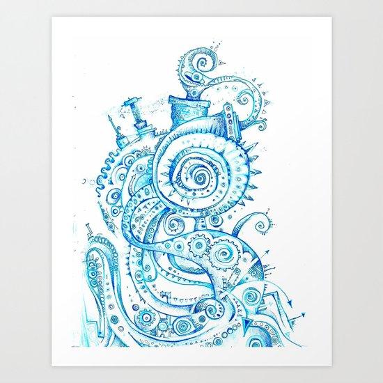 Doodle Factory Art Print