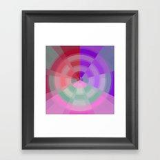 Crossed Color Rings Framed Art Print