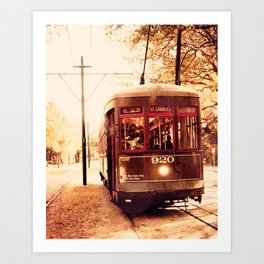 St Charles Street Car - New Orleans Art Print