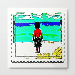 Max by the Sea Metal Print