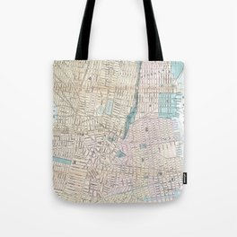Vintage Map of Jersey City and Hoboken (1886) Tote Bag