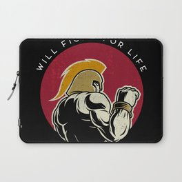 Will fight for life Laptop Sleeve