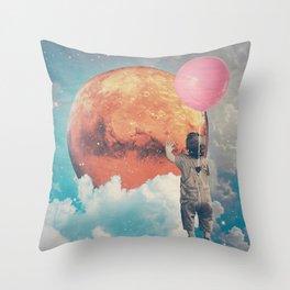 Balloon, Baby and Moon Throw Pillow