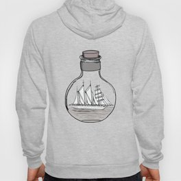 the ship in the bulb . illustration . Hoody