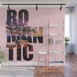 Romantic Dinner Typography Digital Painting Wall Mural