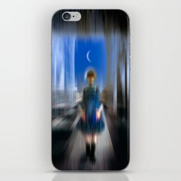 The Girl From The Moon iPhone Skin