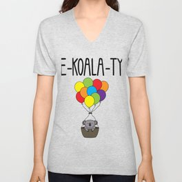 LGBT PRIDE MONTH PARADE graphic - EQUALITY EKOALATY KOALA CUTE design Unisex V-Neck