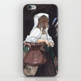 Italian Walrus Drawing Water iPhone Skin