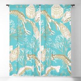 South Seas Seashells Blackout Curtain