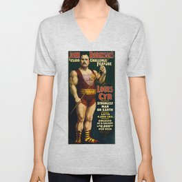 Louis Cyr, Strongest Man on Earth Unisex V-Neck