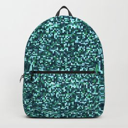 Dee Sea Green Tiling Colored Squares Backpack