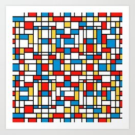 Mondrian design, abstract pattern Art Print