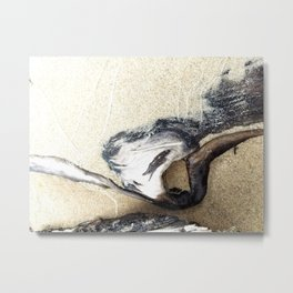 Twisted Driftwood Beach Metal Print