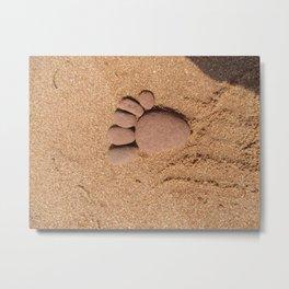 Baby Stone Footstep Metal Print