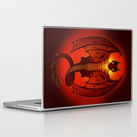 smaug Laptop & iPad Skins featuring The Hobbit- Smaug by prpldragon